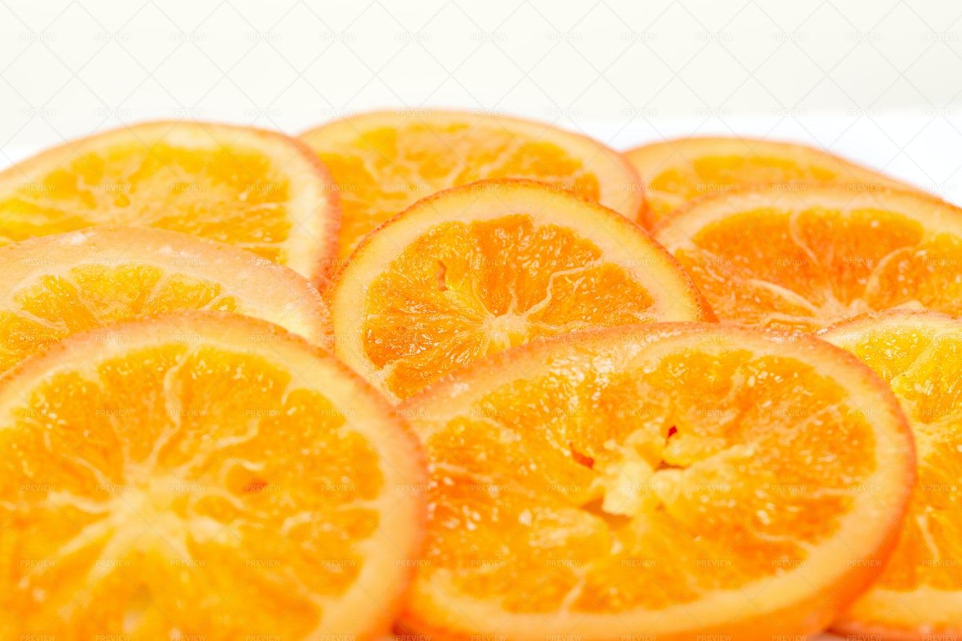 Pile Of Dried Orange Slices: Stock Photos