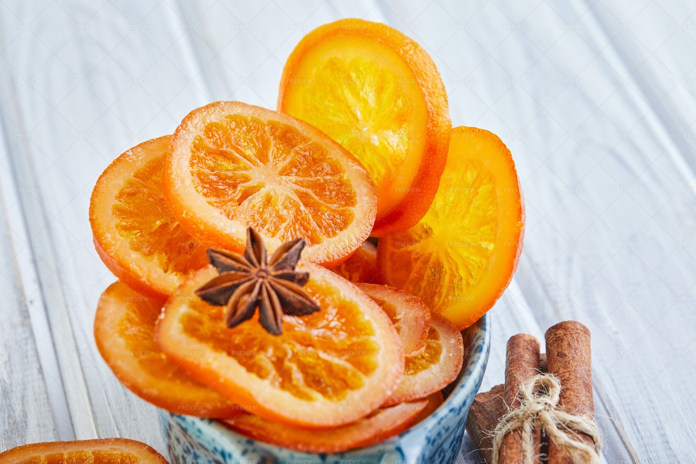 Slices Of Dried Citrus: Stock Photos