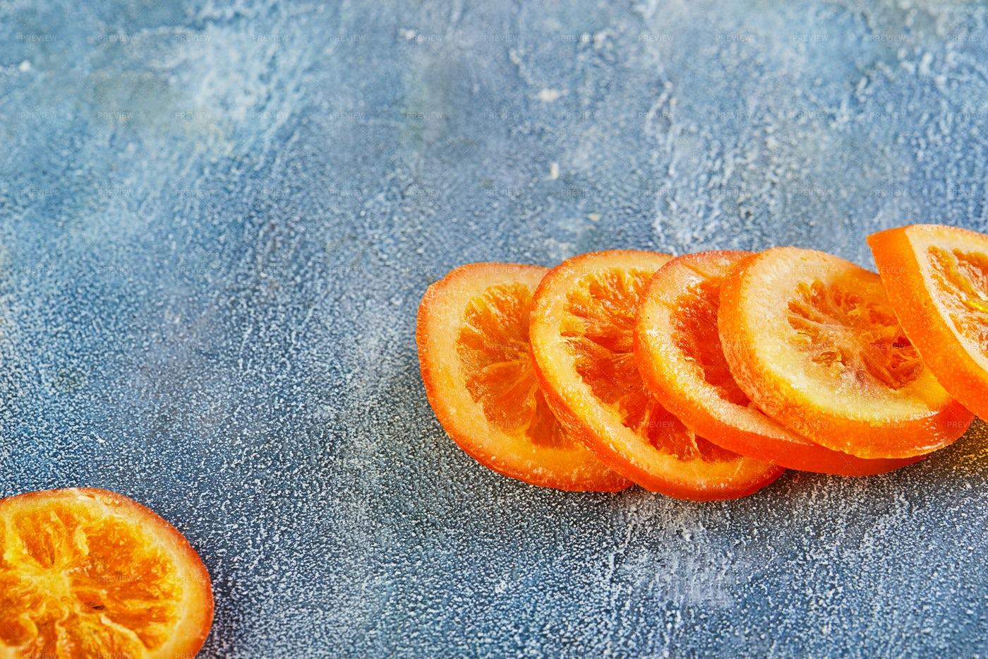 Slices Of Dried Oranges: Stock Photos