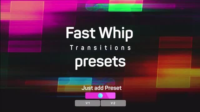 Fast Whip Transitions Presets: Premiere Pro Presets