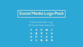 Social Media Logo Pack: Motion Graphics Templates