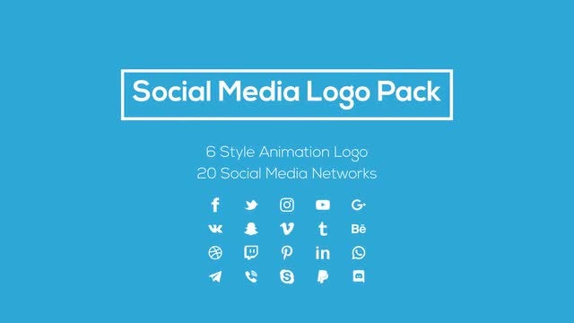 Social Media Logo Pack: Motion Graphics Templates