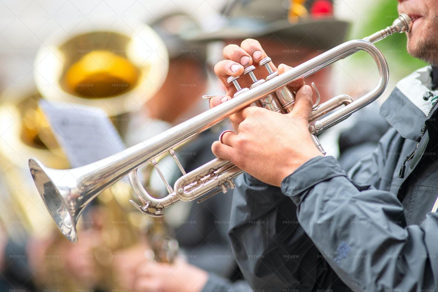 Trumpet Player: Stock Photos