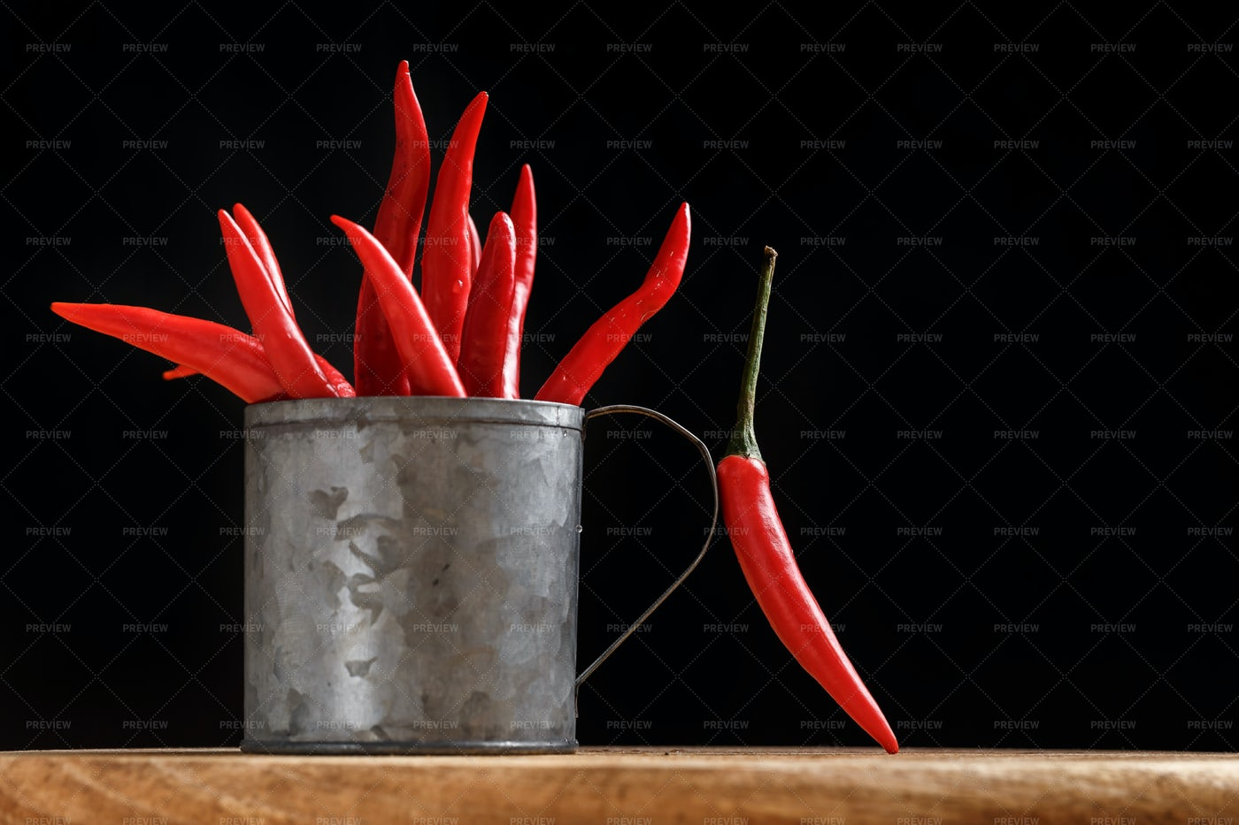 Hot Peppers In Can: Stock Photos