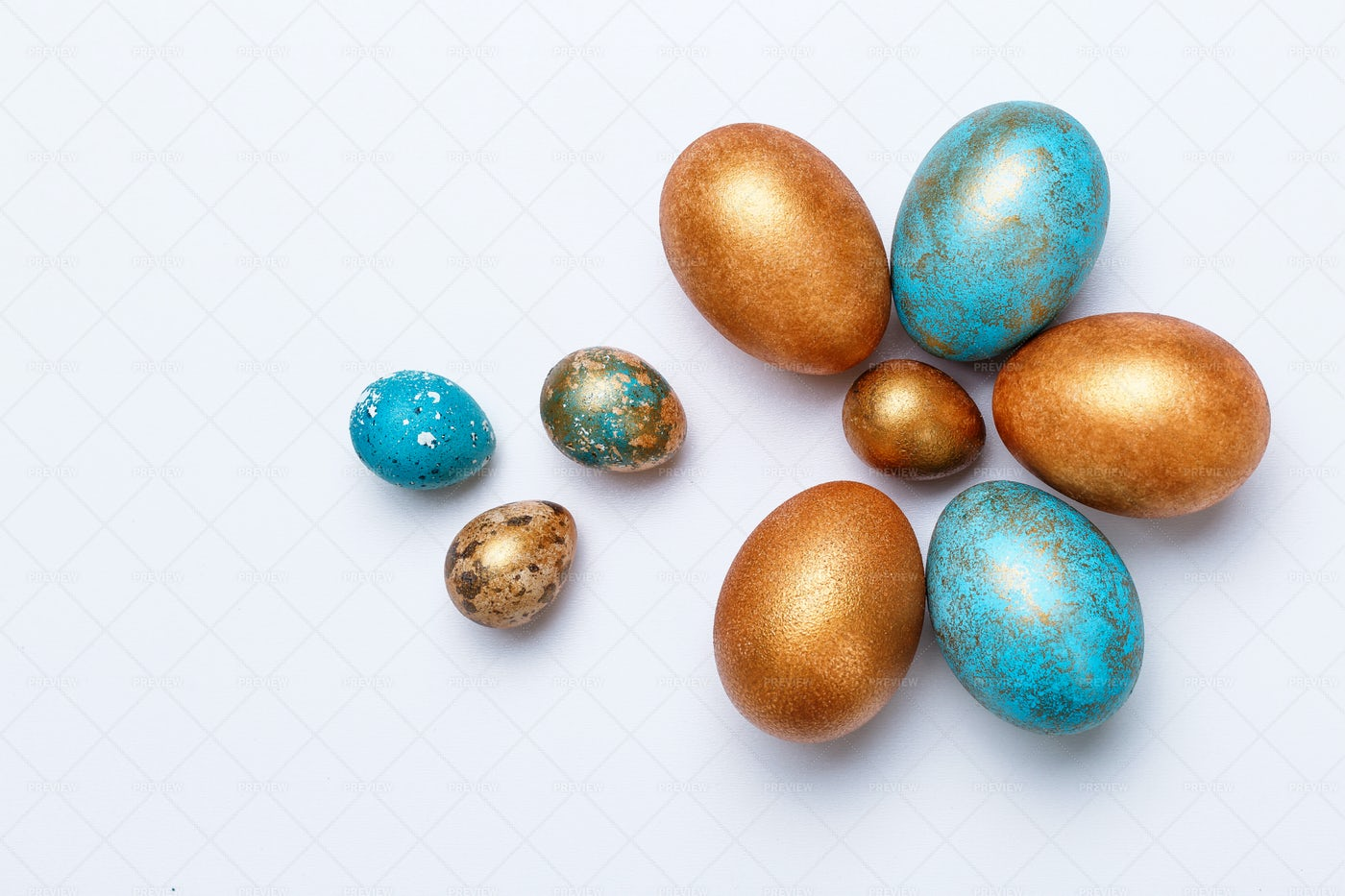 Designed Eastern Eggs: Stock Photos