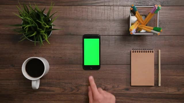 Green Screen Phone - Bottom Click: Stock Video