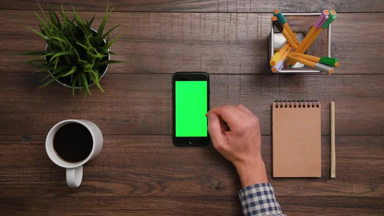 Iphone Green Screen Scrolls-Click: Stock Video