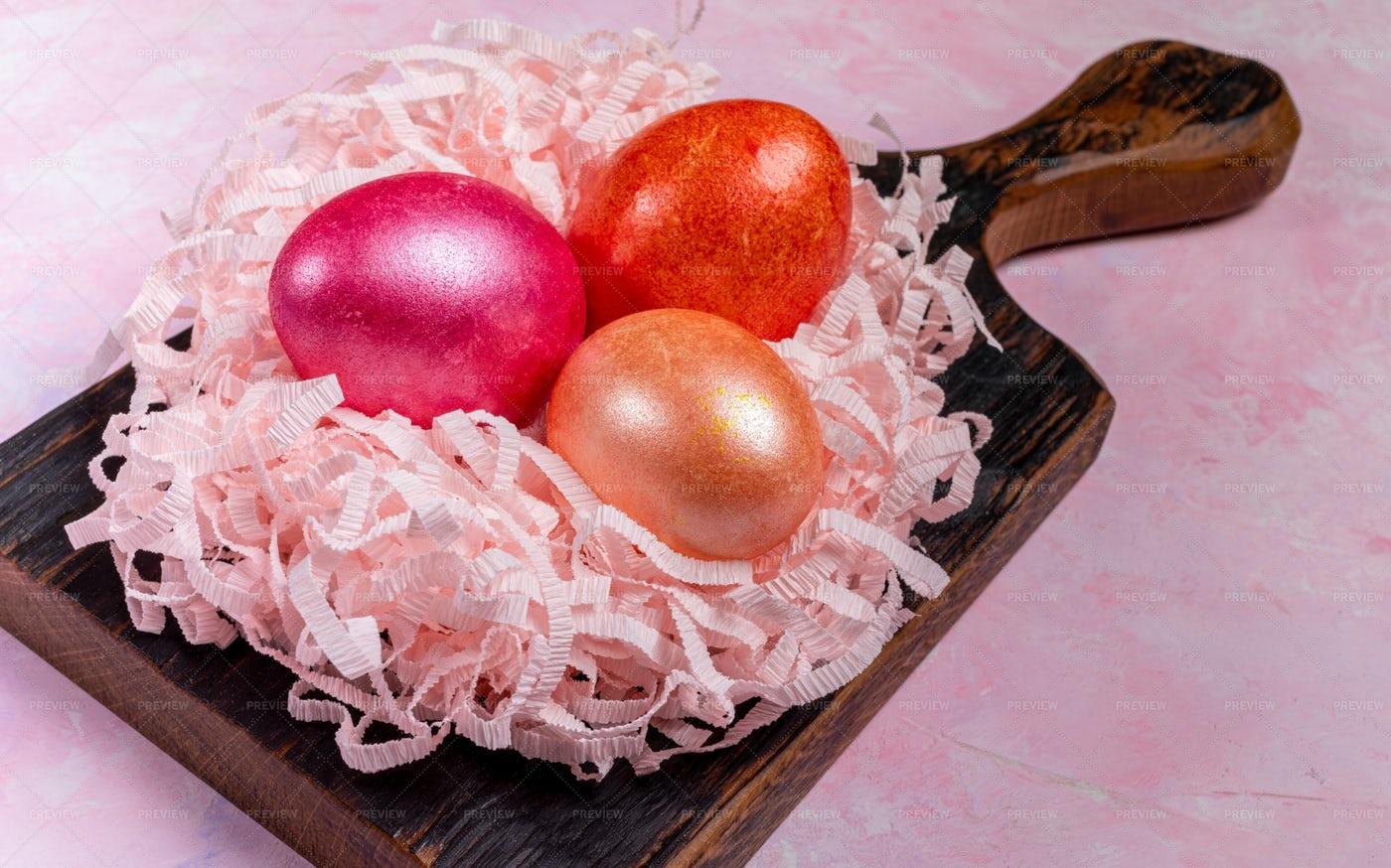 Bright Easter Eggs: Stock Photos