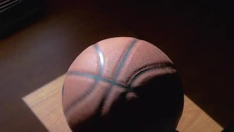 Spinning Basketball: Stock Video