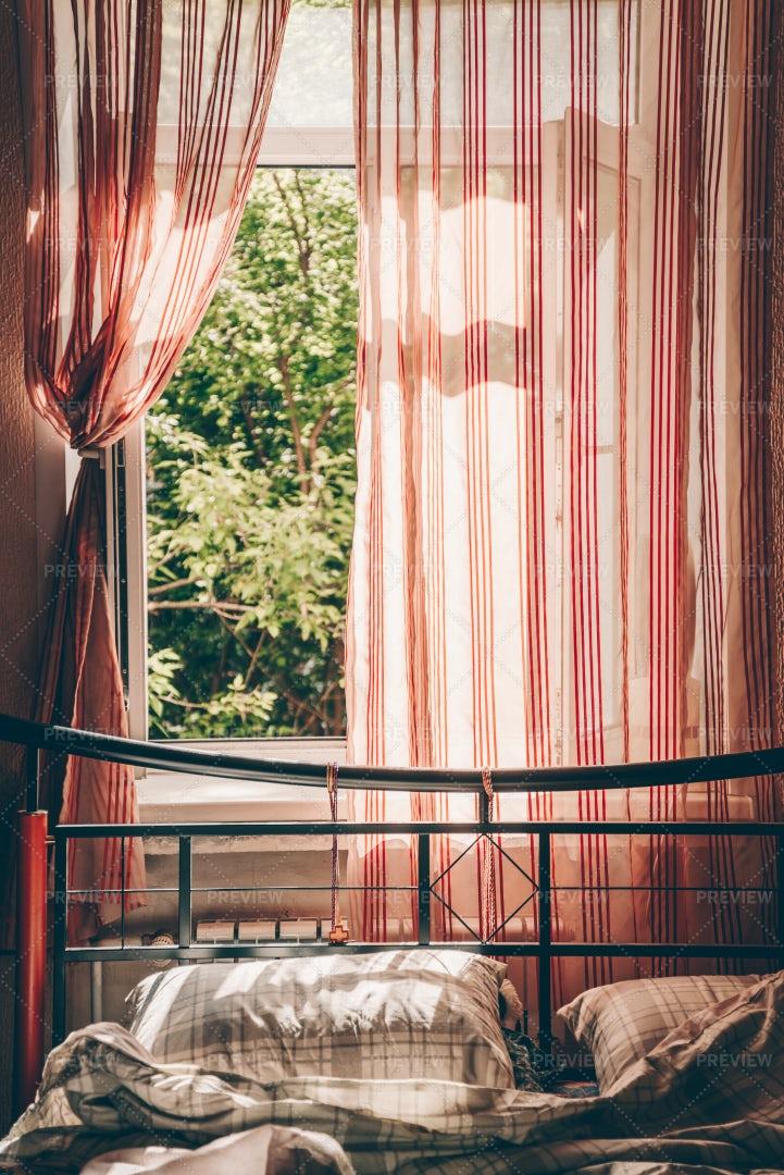 Bedroom Window: Stock Photos