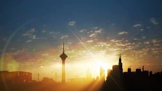 City Sunrise: Stock Video