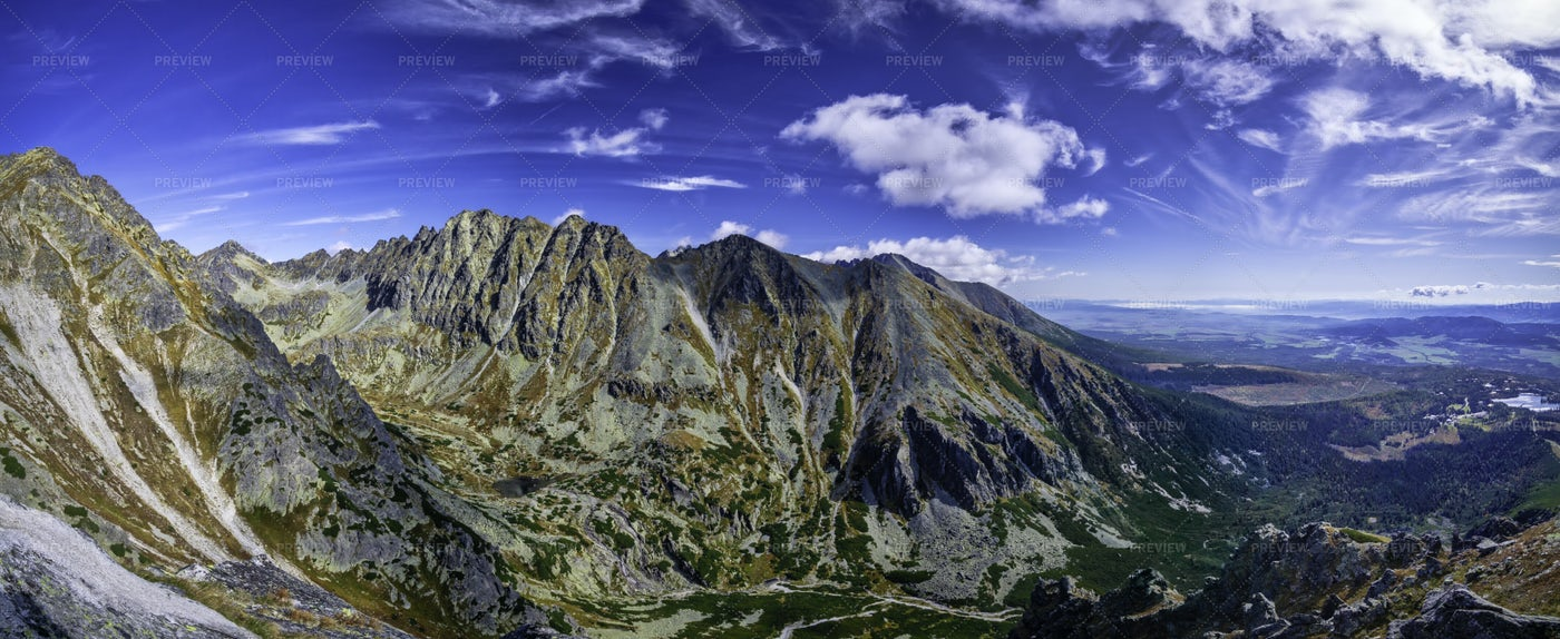Mountainous Panorama: Stock Photos
