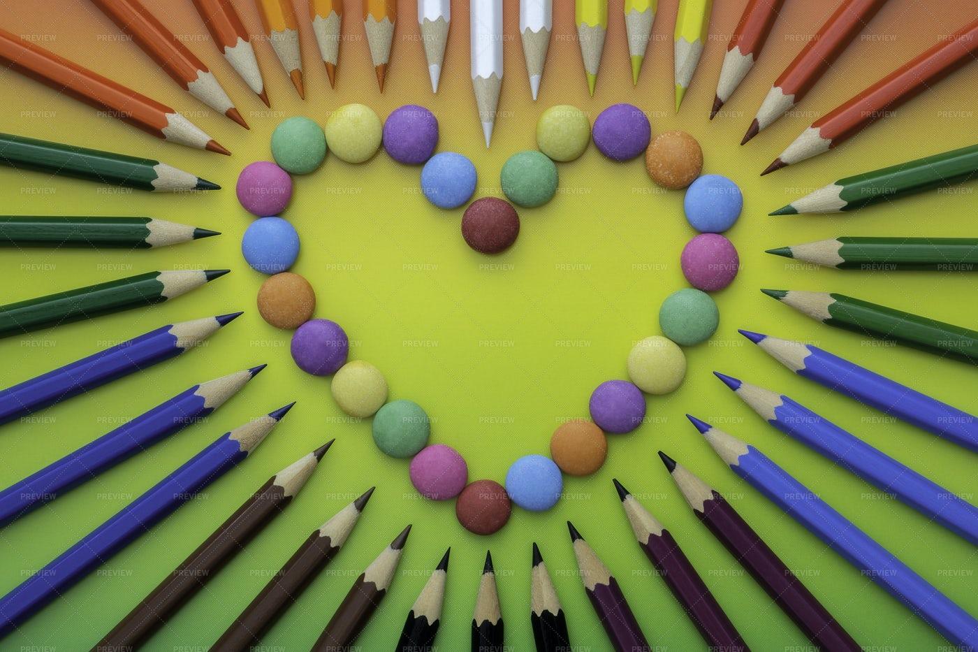 Multicolored Heart: Stock Photos