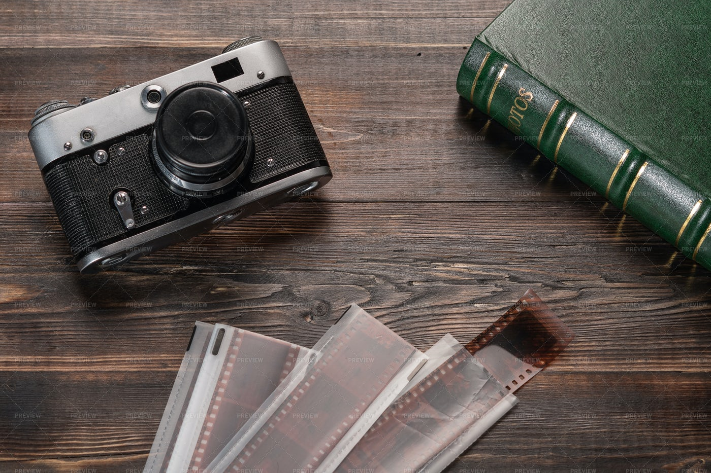 Vintage Camera And Films: Stock Photos