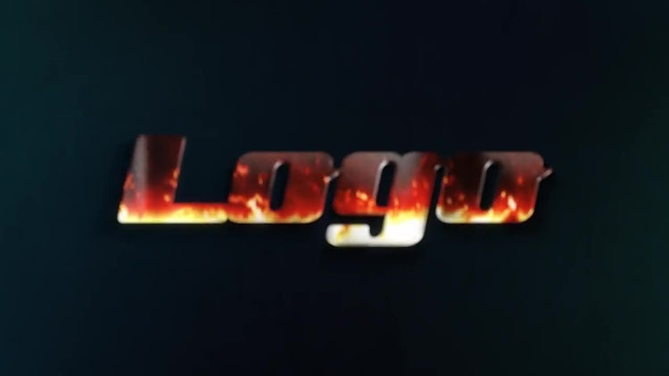 Flaming Metal Logo: After Effects Templates