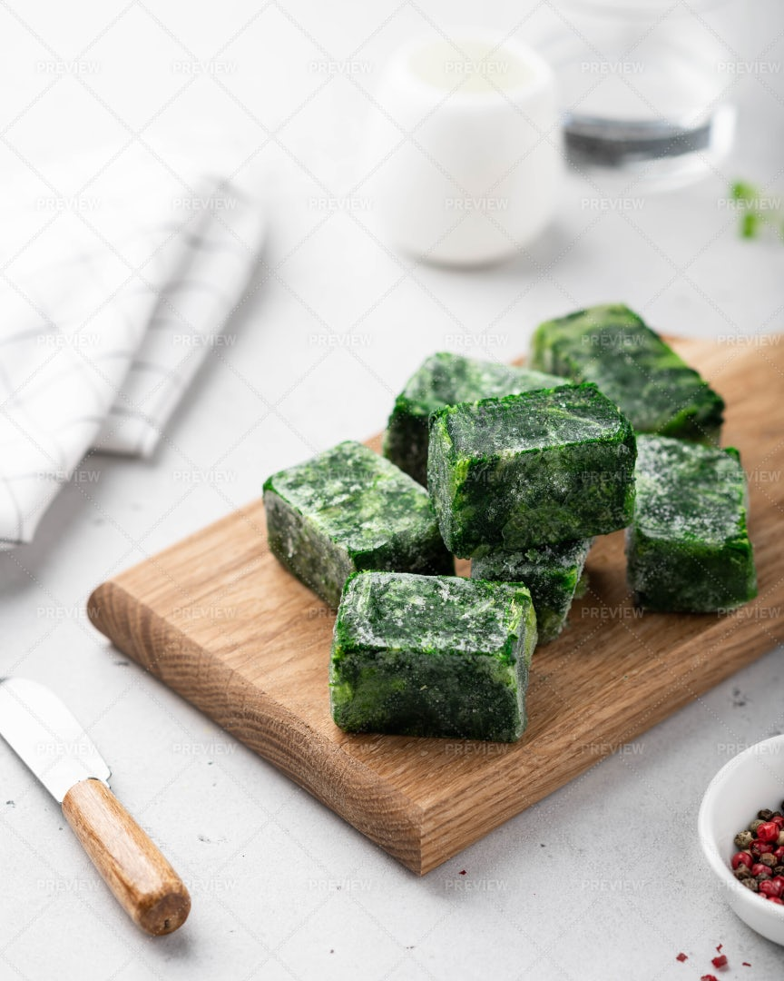 Frozen Spinach: Stock Photos