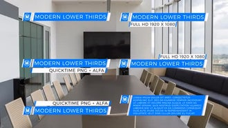 Modern Lower Thirds Background Pack: Motion Graphics