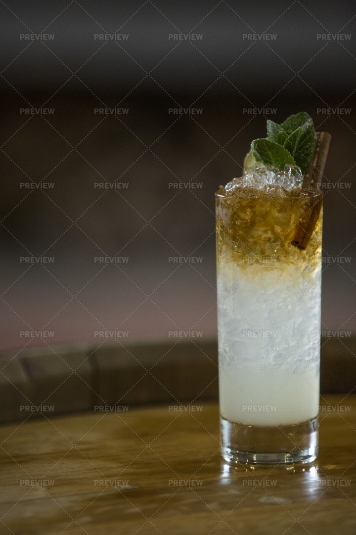 Alcoholic Cocktail With Rum: Stock Photos
