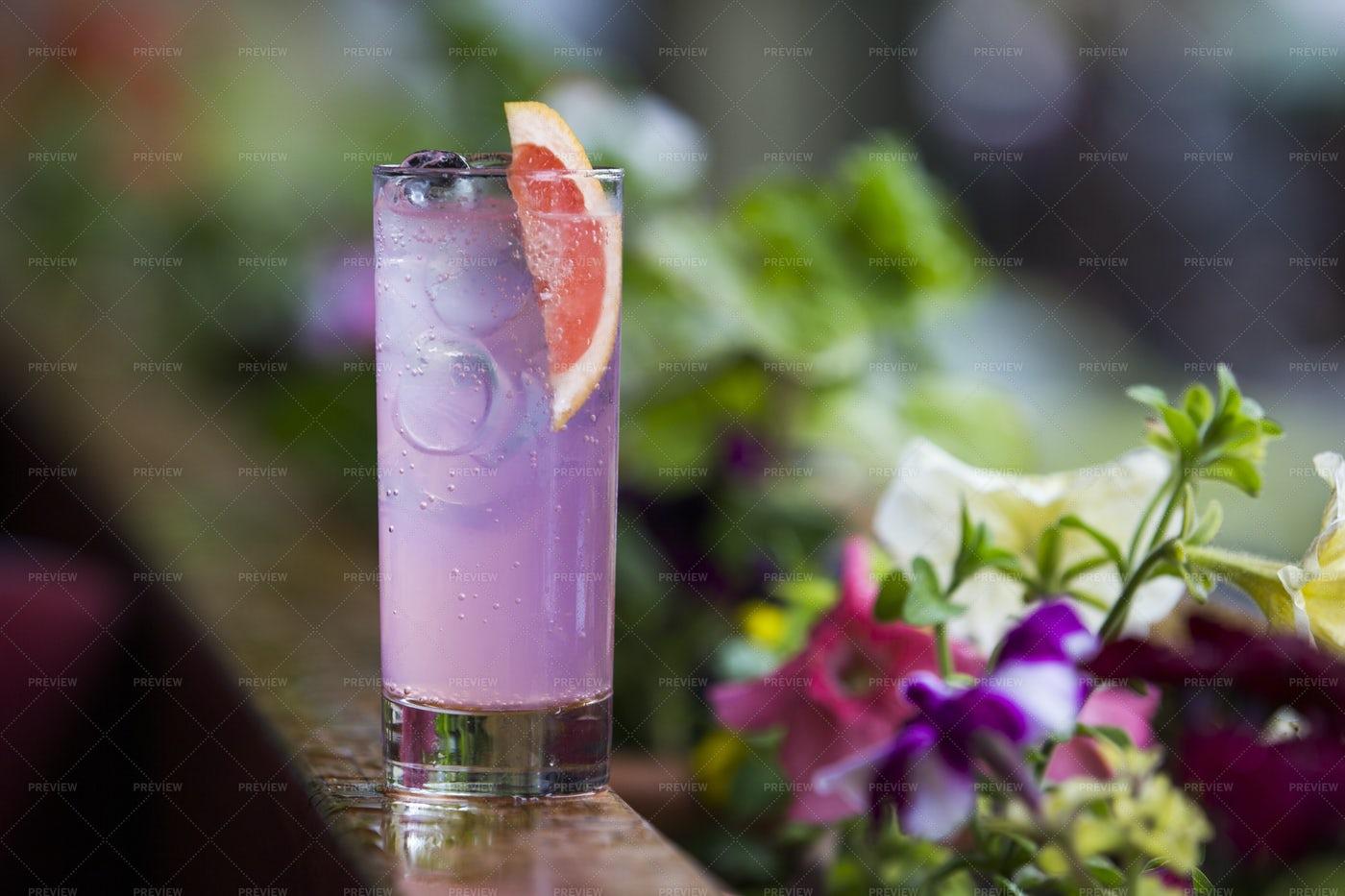 Purple Cocktail: Stock Photos