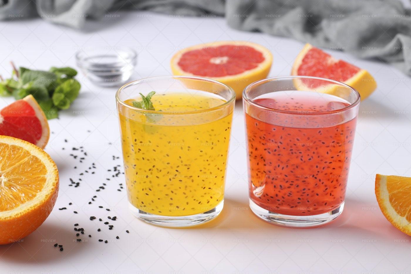 Tropical Orange And Grapefruit Juice: Stock Photos