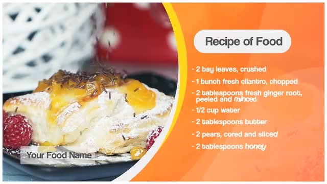 Food Recipe & Lower third: After Effects Templates