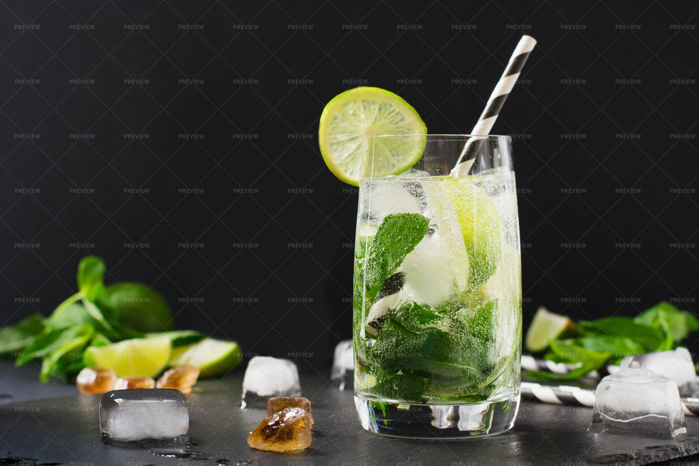 A Glass Of Mojito: Stock Photos