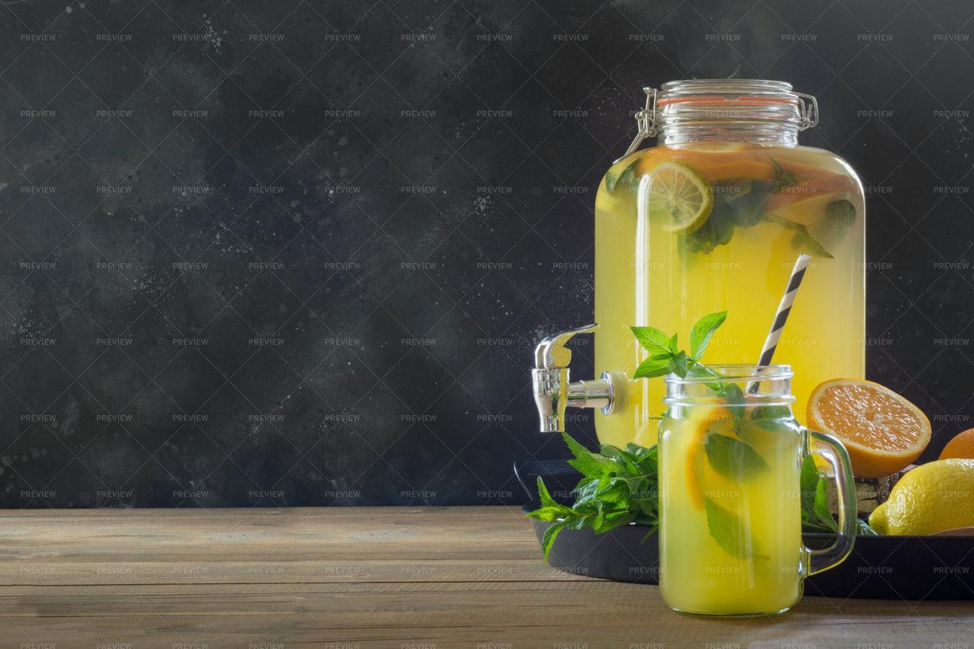 Lemonade With Oranges: Stock Photos