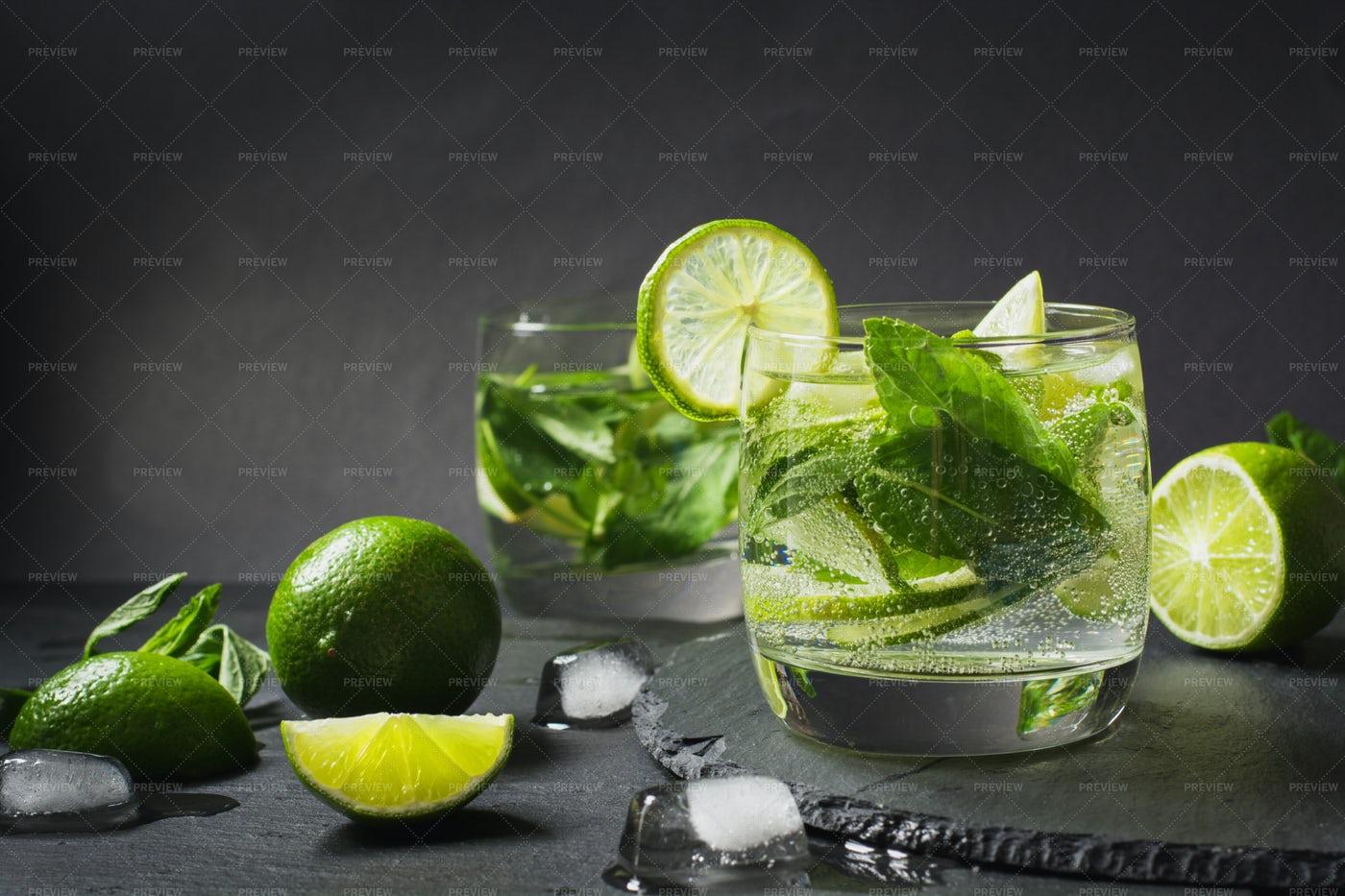 Mojito Preparation: Stock Photos