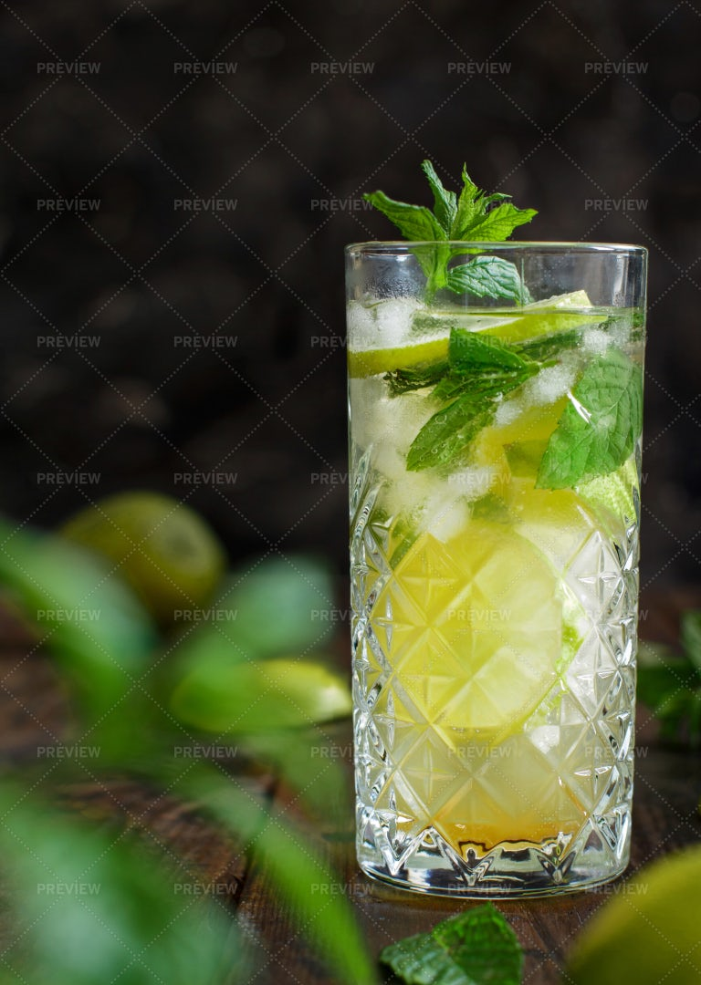 Mojito In A Tall Glass: Stock Photos