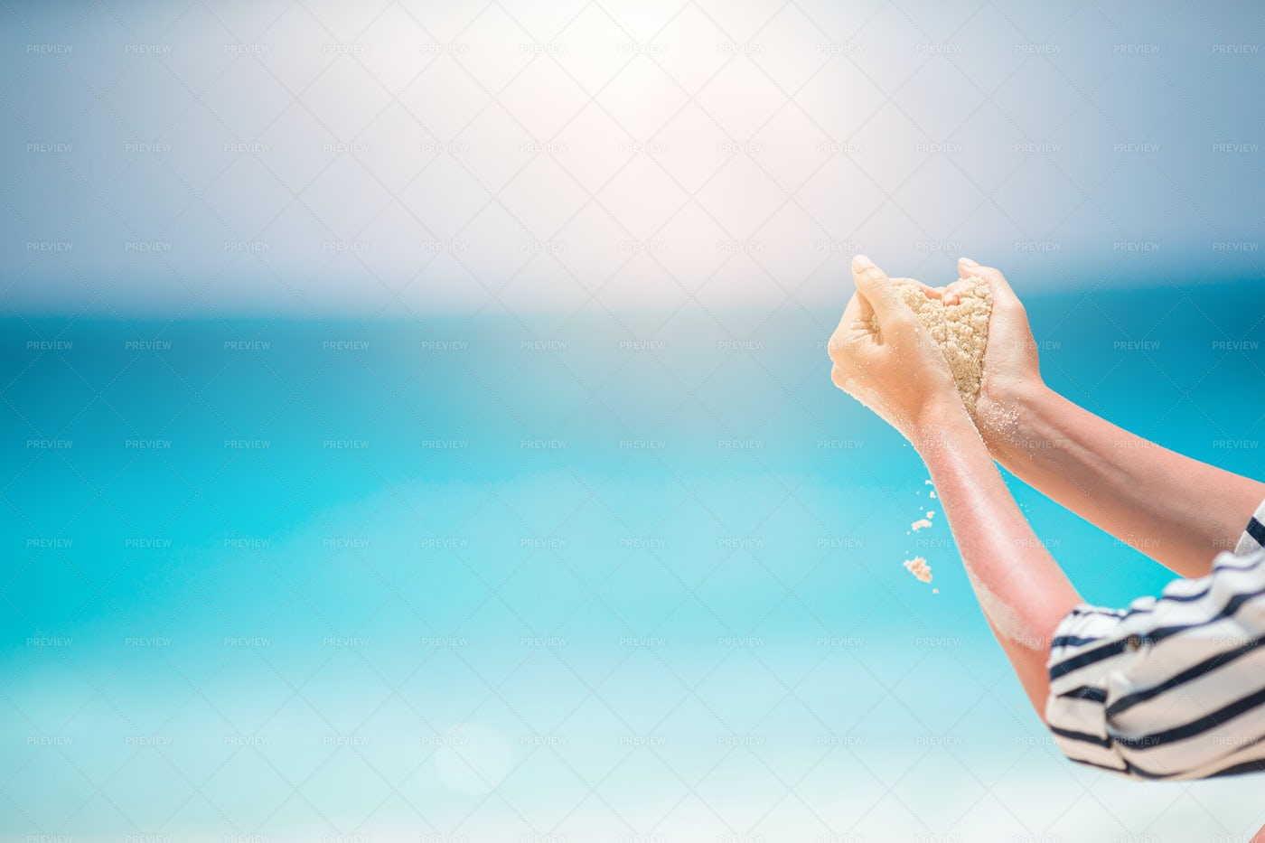Hands With Sand: Stock Photos