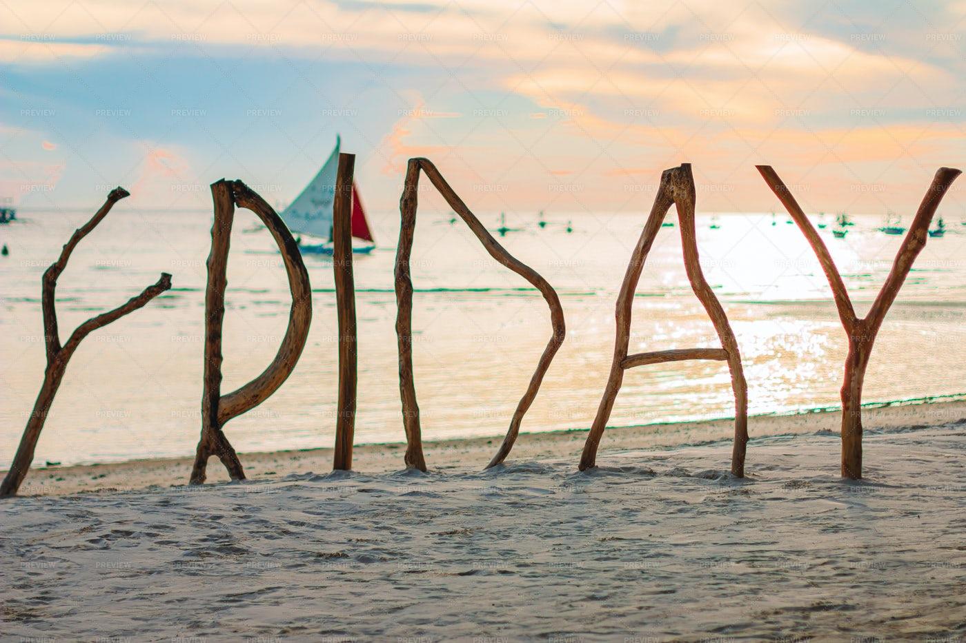 Friday On The Beach: Stock Photos