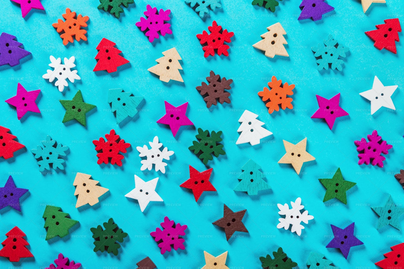 Christmas Buttons: Stock Photos