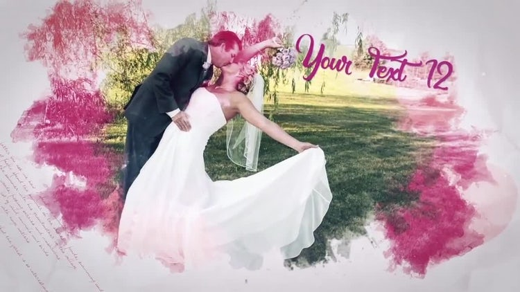 Romantic Brush Slideshow: After Effects Templates