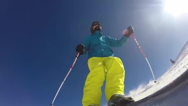 Slalom Skier: Stock Video