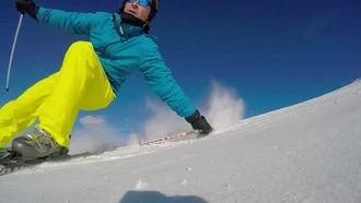 Skidding Skier: Stock Video