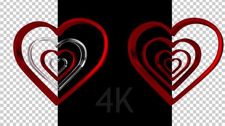Rotating Hearts: Stock Motion Graphics