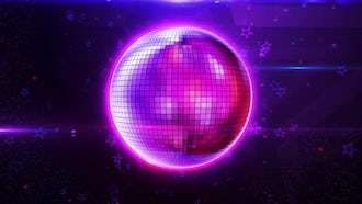 Disco Ball Background: Motion Graphics