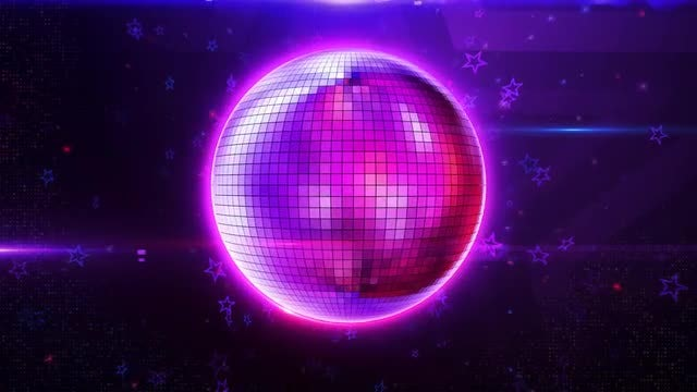 Disco Ball Background: Stock Motion Graphics