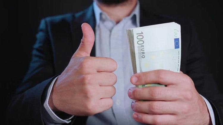 Thumb Like For Euro Cash: Stock Video