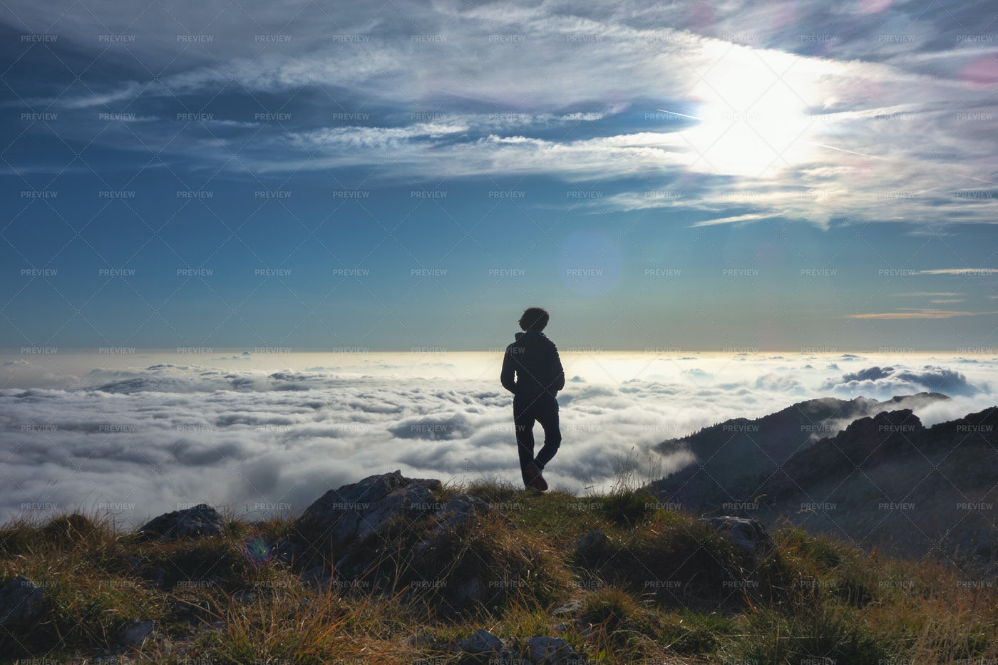 Loneliness In The Mountains: Stock Photos