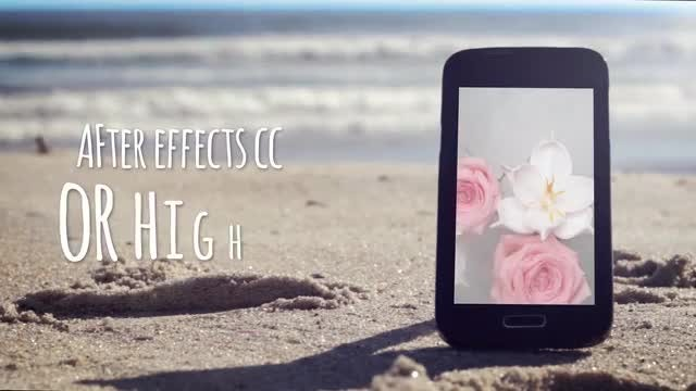 MockUp Beach Phone Real Video: After Effects Templates