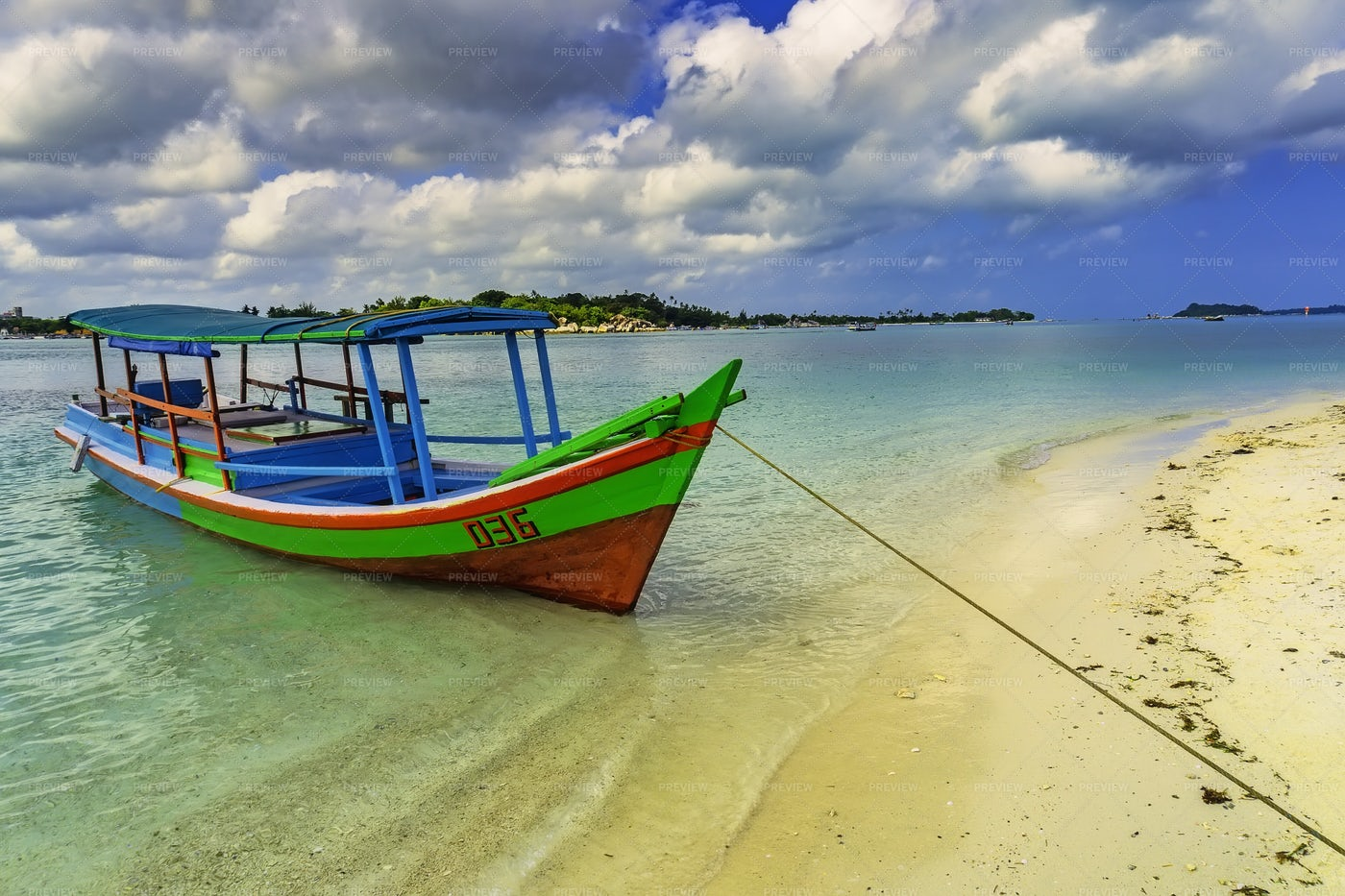 Colorful Tourist Boat: Stock Photos