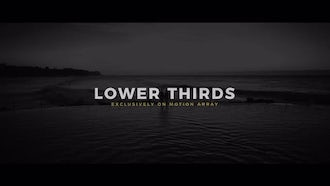 Lower Thirds: Premiere Pro Templates