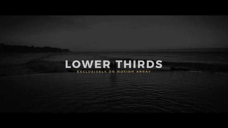 Lower Thirds: Premiere Pro Templates