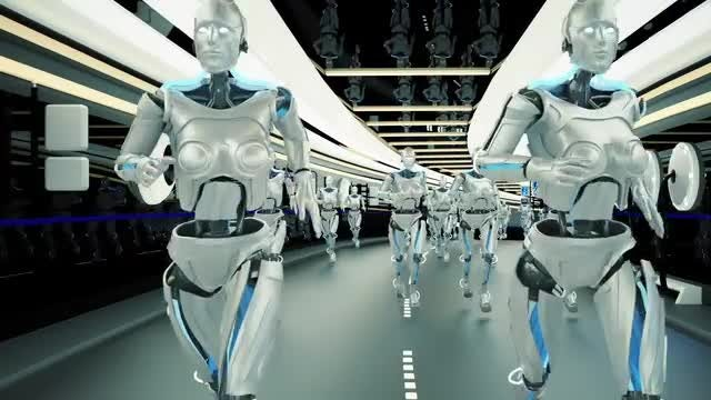 Running Cyborgs: Stock Motion Graphics