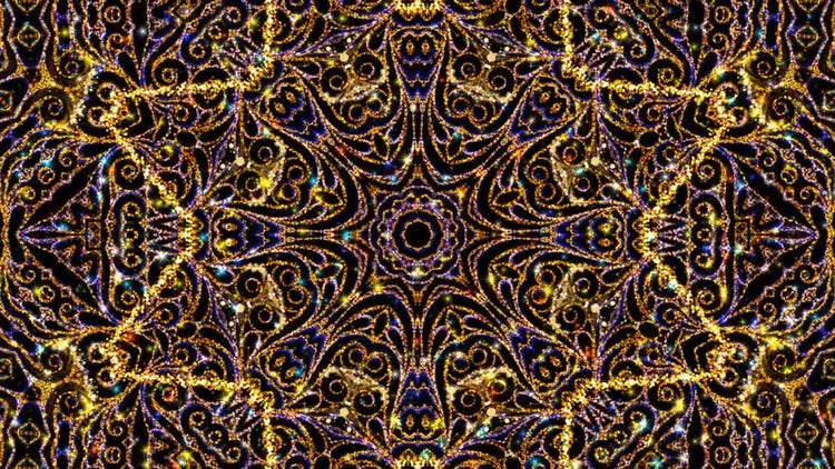 Kaleidoscope Ornament Background: Stock Motion Graphics