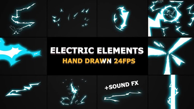 Dynamic ELECTRIC Elements: Stock Motion Graphics