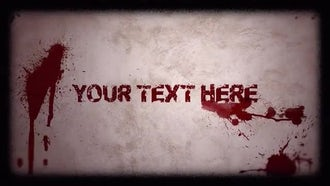 Horror Titles: After Effects Templates