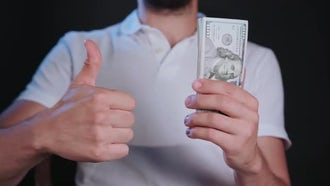 Thumb For US Dollars Cash: Stock Video