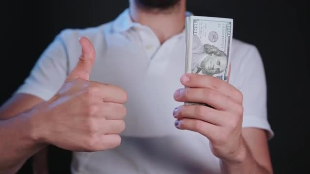 Thumb For US Dollars Cash: Stock Video